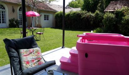 Le spa, côté jardin